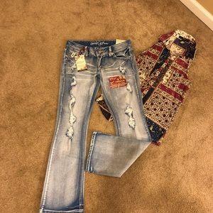 Amethyst Series 31 Short & Sweet Jeans. SZ 9 Jrs.